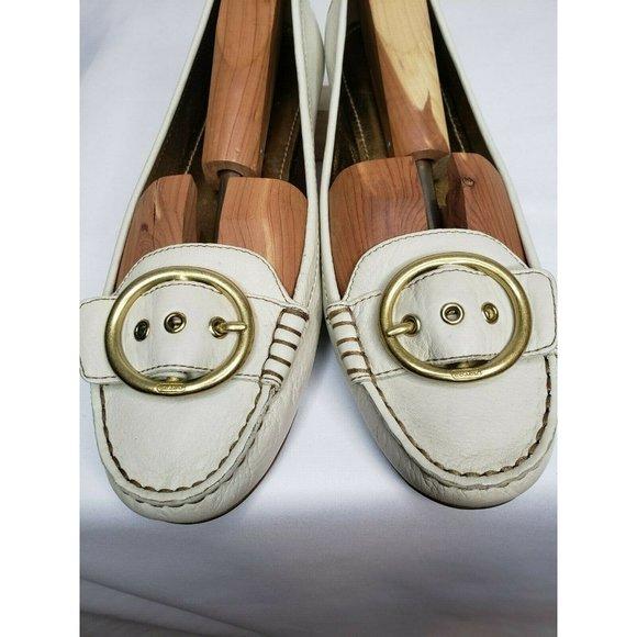 Coach  Womens Shoes Flats Cream/Gold interior 10M
